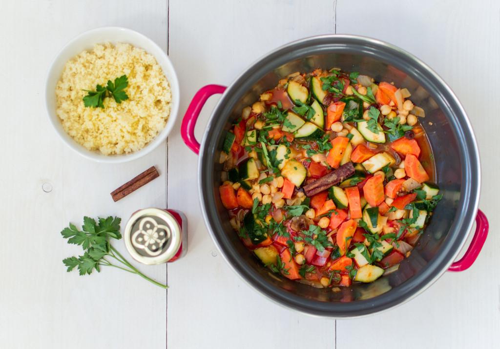 Marokkaanse Couscous met groenten