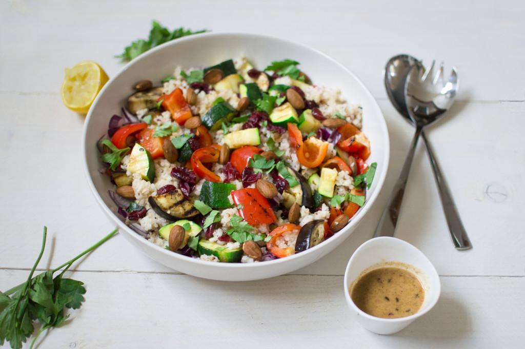 Rijstsalade met gegrilde groente 2