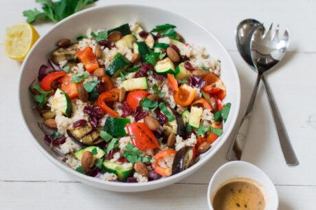 Rijstsalade met gegrilde groente
