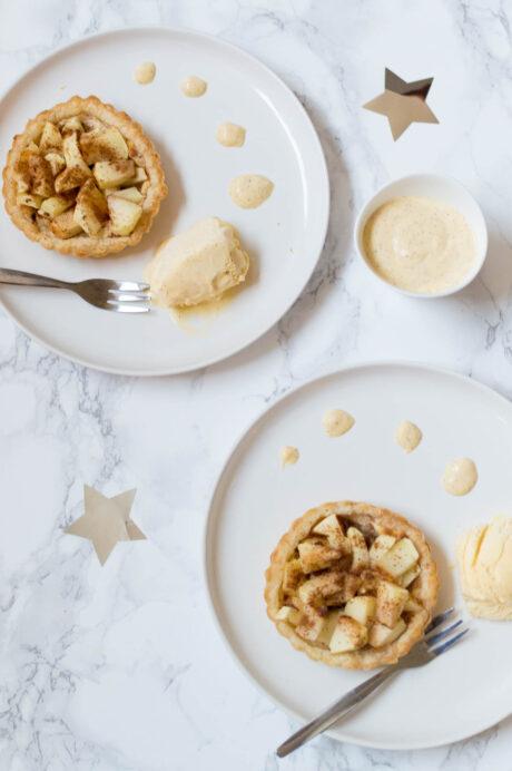 appeltaartjes met vanillesaus